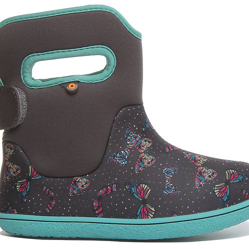 Bogs Youngster Butterfly, Dark Grey Multi