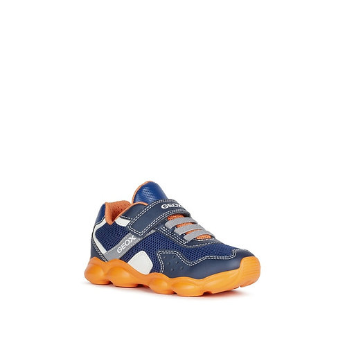 Geox Munfrey Navy Orange Junior Trainer