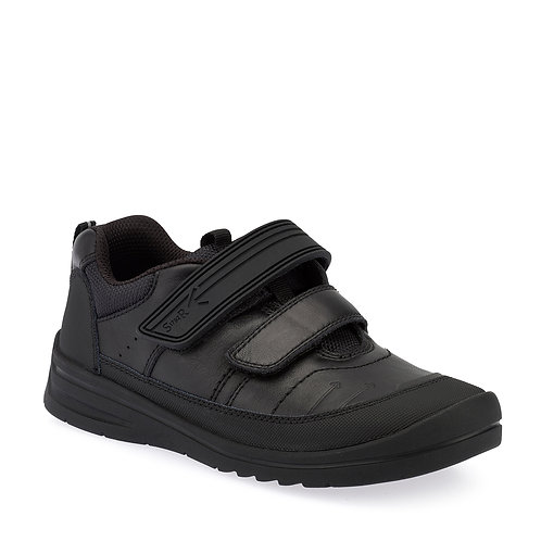 Startrite Bolt, Black Leather School Shoe
