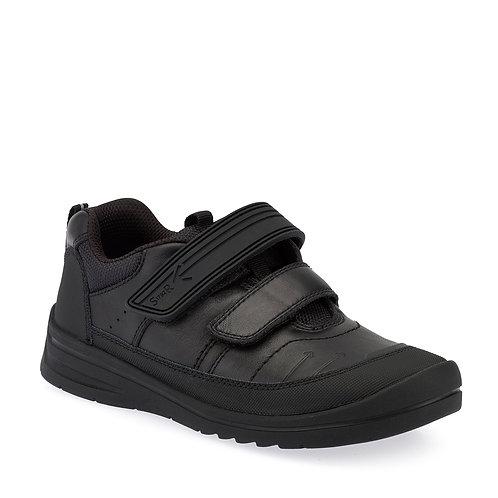 Startrite Bolt, Black Leather School Shoe