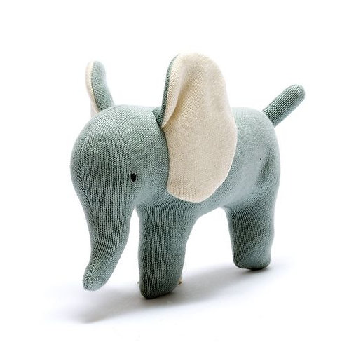 Best Years Small Knitted Elephant, Teal