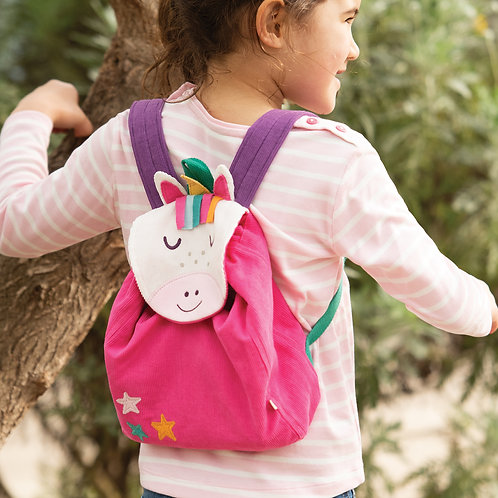 Frugi Playtime Character Backpack, Unicorn