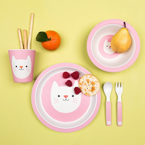 Rex London Cookie The Cat Bamboo Tableware Set