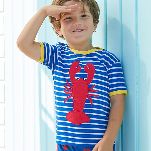Toby Tiger Organic Lobster Applique Tshirt