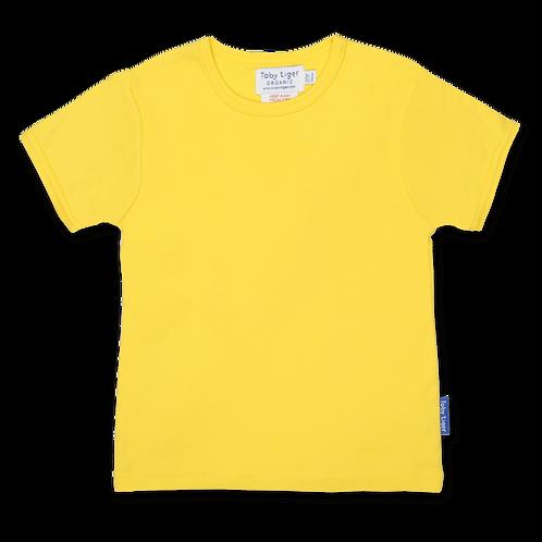 Toby Tiger Organic Basic T Shirt , Yellow