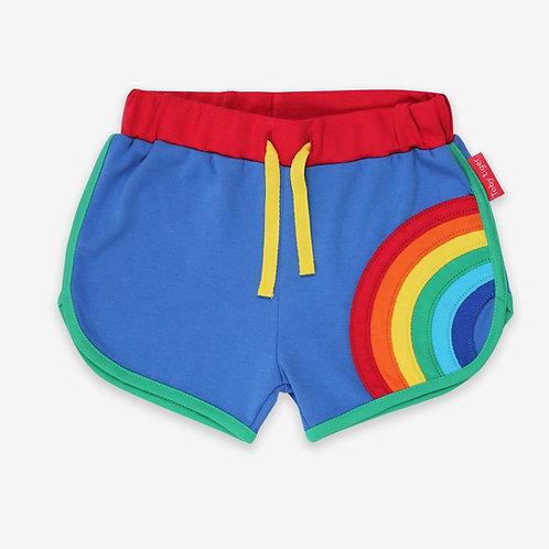 Toby Tiger Organic Rainbow Applique Running Shorts