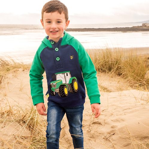 Lighthouse Jack Hoodie, Tractor Applique