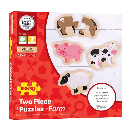 Bigjigs Two Piece Puzzle - Farm