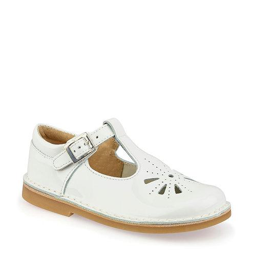 Startrite Lottie T-Bar Shoe, White Patent