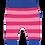 Thumbnail: Toby Tiger Pink/Pink Stripe Yoga Pants