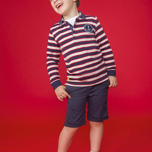 Lighthouse Alfie Rugby Shirt, Eclipse Stripe