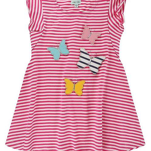 Lilly & Sid Butterfly Stripe Dress