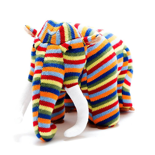 Best Years Striped Knitted Wooly Mammoth Dinosaur
