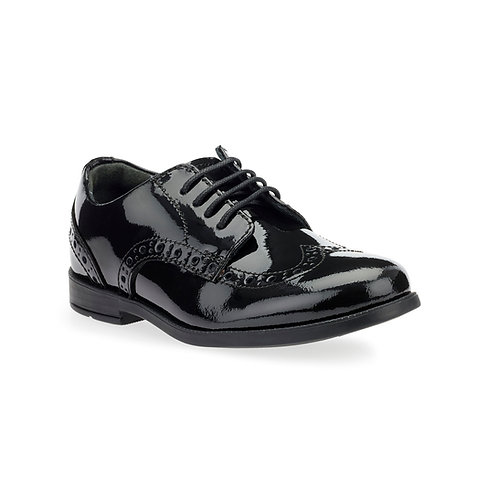 Startrite Brogue Pri Black Patent School Shoes