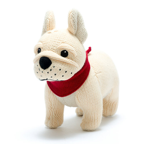 Best Years Knitted French Bulldog Rattle