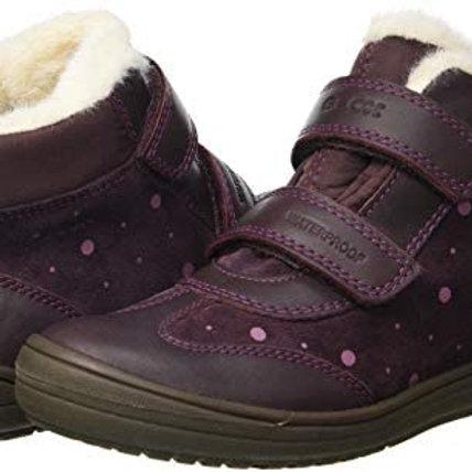Geox Hadriel Short Waterproof Ankle Boot, Dark Burgundy
