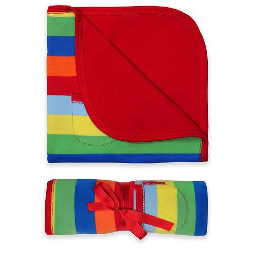 Toby Tiger Organic Multi Stripe Blanket