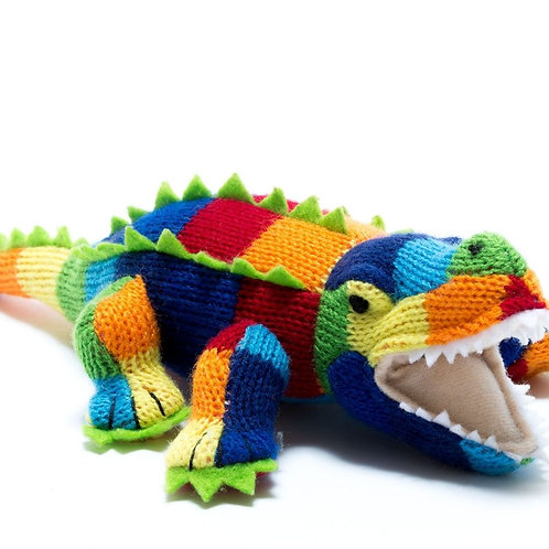 Best Years Knitted Crocodile Stripe Rattle
