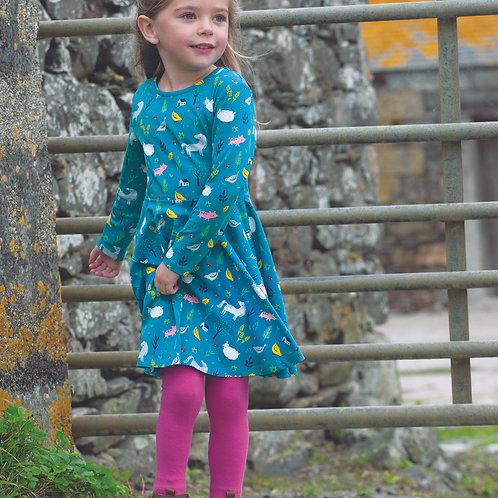 Frugi Sofia Skater Dress, Farmyard