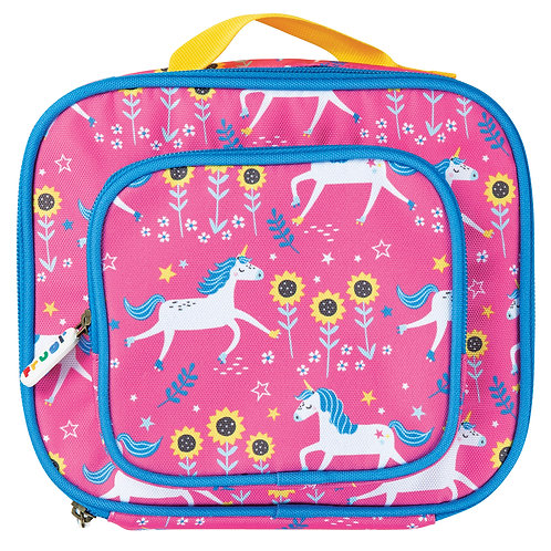 Frugi Pack A Snack Lunch Bag, Flamingo Unicorn Skies