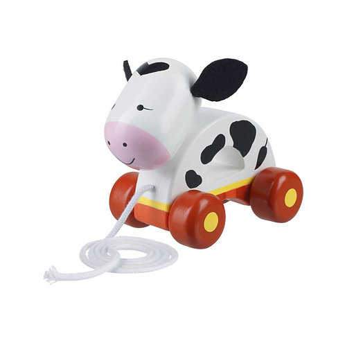 Orange Tree Toys Cow Pull-Along
