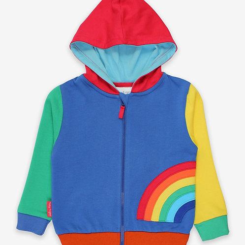 Toby Tiger Organic Rainbow Applique Hoodie