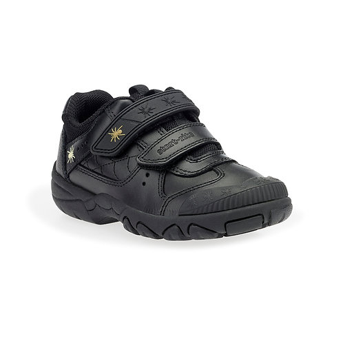 Startrite Tarantula Black Leather Schol Shoes