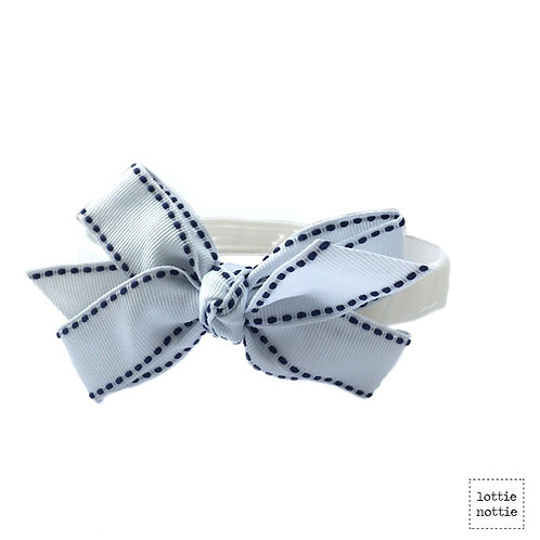 Lottie Nottie Stitch Alice Bland, White & Navy