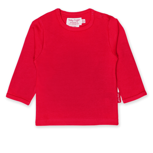 Toby Tiger Organic Basics Long Sleeved Tshirt, Red