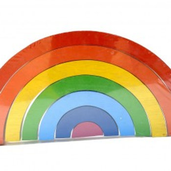 Best Years Wooden Bright Rainbow Puzzle Stacking Toy