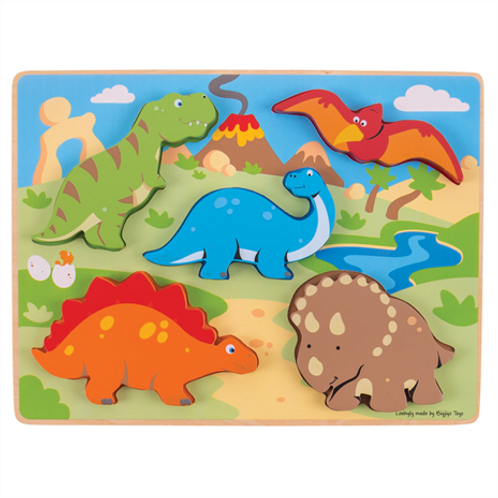 Bigjigs Chunky Lift Out Dinosaur Puzzle
