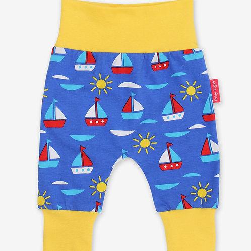 Toby Tiger Organic Boat Print Yoga Pants