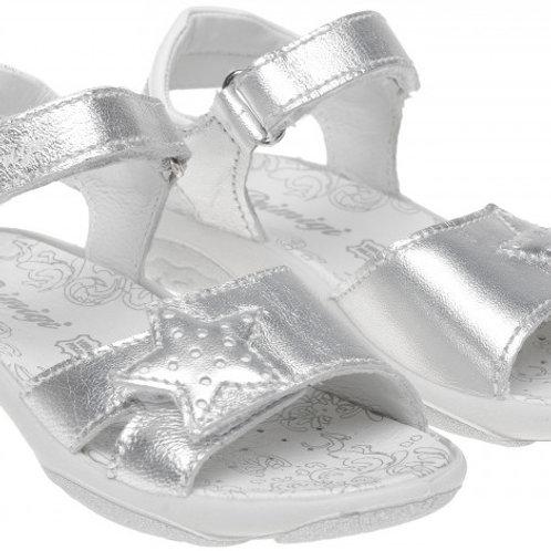 Primigi 3388844 Leather Sandal, Silver