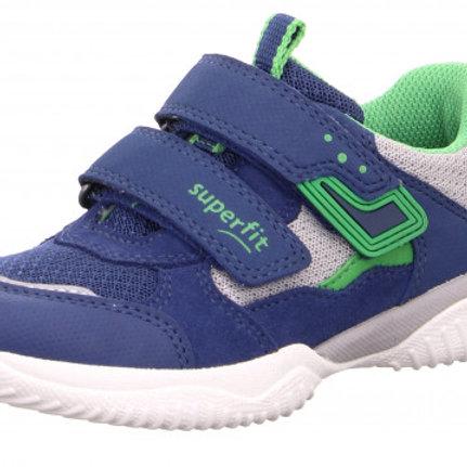 Superfit Storm 4 Trainer, Blue/Green/Grey