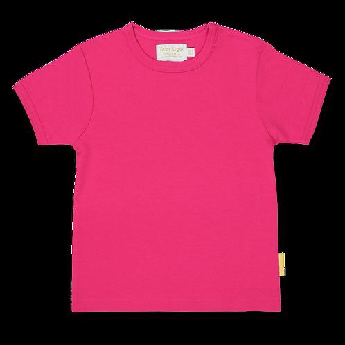 Toby Tiger Organic Basic T Shirt , Pink
