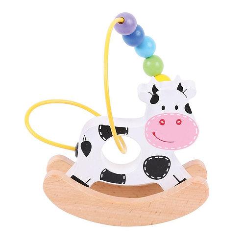 Bigjigs Rocking Bead Frame, Cow