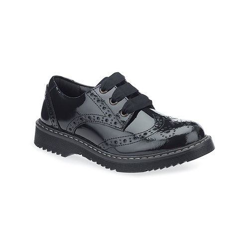 Startrite Impulsive, Black Patent School Shoe