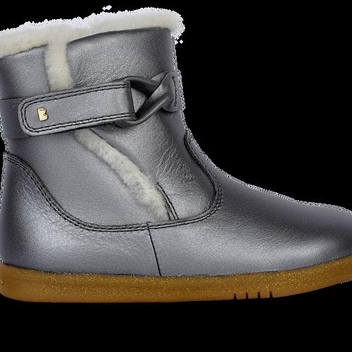 Bobux IWalk Whistler Ankle Boot, Charcoal Shimmer