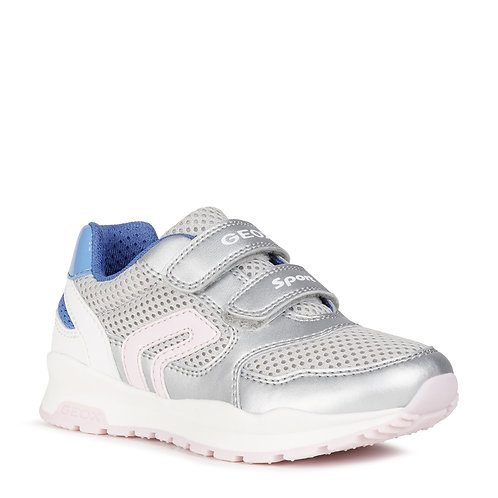 Geox J Pavel Active Trainer, Silver