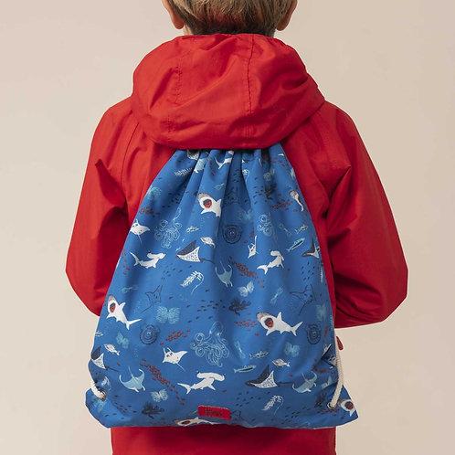 Lighthouse Drawstring Bag, Ocean Blue