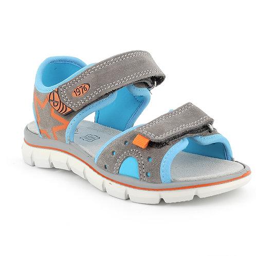 Primigi Tevez Sandal, Grey/Blue/Orange