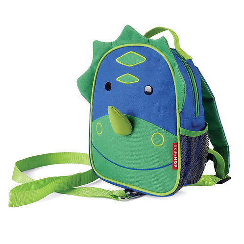 SkipHop Mini Backpack with Reins, Dinosaur