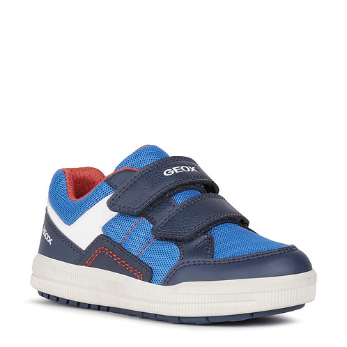 Geox J Arzach Casual Sport Trainers, Royal Blue & Navy