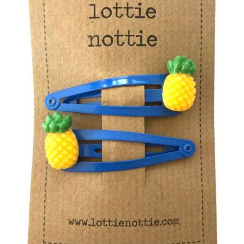 Lottie Nottie Hair Clips, Pineapples