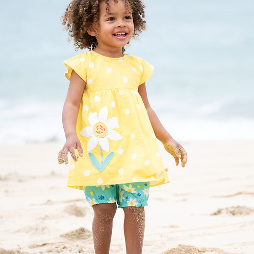 Frugi Waterfall Woven Outfit, Daffodil Days