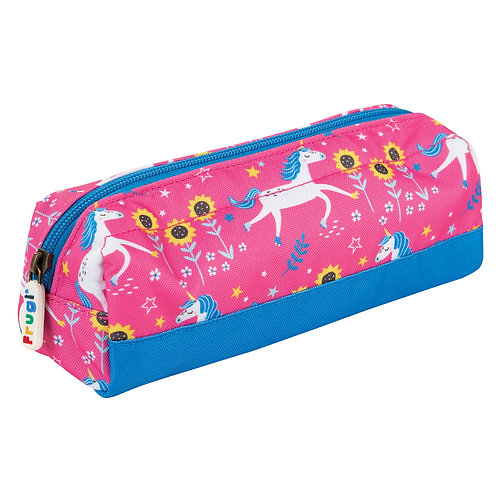 Frugi Crafty Pencil Case, Flamingo Unicorn Skies