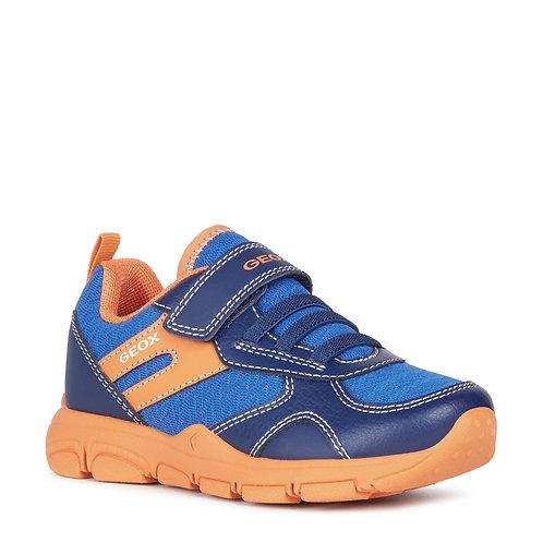 Geox J N Torque Casual Sport Trainers, Blue & Orange