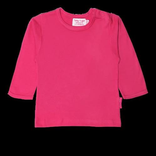 Toby Tiger Organic Basics Long Sleeved Tshirt, Pink