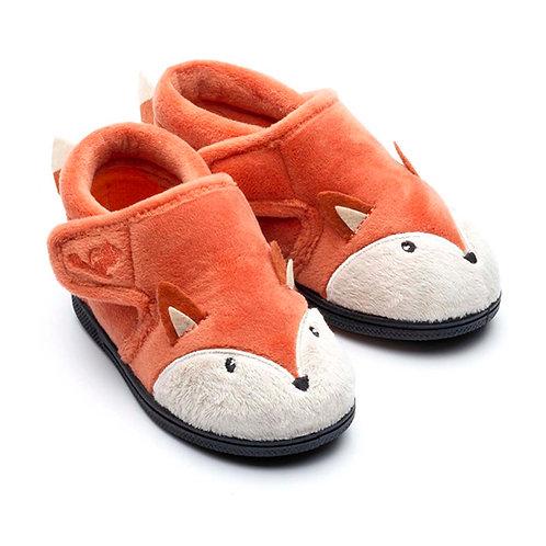 Chipmunk Mr Fox Slippers,Rust