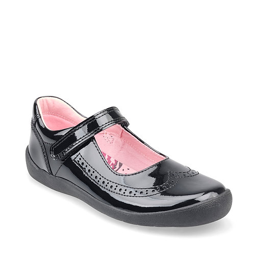 Startrite Spirit Black Patent School Shoe